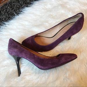 COACH | Nala Suede Pumps Purple Heela Shoes Round